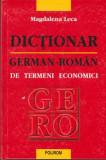 Dictionar german - roman de termeni economici - Autor(i): Magdalena Leca