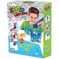 IDO3D - Set 2 Creioane 3D Albastru si Portocaliu - Roboti de jucarie