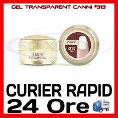 GEL UV CONSTRUCTIE CANNI CLEAR #313, 15 ML  - CONSTRUCTIE MANICHIURA, UNGHII UV