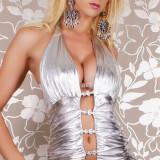 A96 Salopeta latex cu decolteu - Lenjerie sexy femei, Marime: M