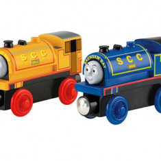 Locomotivele Bill si Ben, Thomas si prietenii sai, Fisher Price - Trenulet Fisher Price, 4-6 ani, Lemn, Unisex
