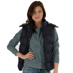 Vesta Originala Dama Onfire Womens Hooded Gilet Navy - Vesta dama, Marime: S, Culoare: Din imagine