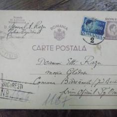 Generalul Aristide Razu, Carte postala Bucuresti 1946 - Harta Europei