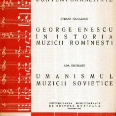 Ce se intelege prin contemporaneitate. George Enescu in istoria muzicii romanesti. Umanismul