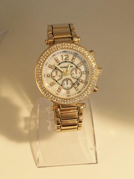 Ceas Dama Michael Kors Gold Silver Edition Elegant  + Cutie cadou foto mare