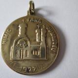 MEDALIA BISERICA PAROHIALA CASA REGALA PALAT COTROCENI 1927,NIMIC FARA DUMNEZEU