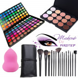 Set Trusa  fard machiaj 120 culori + Fond de ten corector + 15 pensule make up