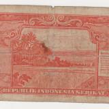 INDONESIA 5 rupiah 1950 VG- F - bancnota asia