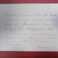 Invitatii la nunta familiei Protopopescu Pake