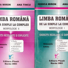 Limba romana - De la simplu la complex - Morfologie vol. I-II - Carte traditii populare