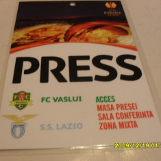 Acreditare presa F.C. Vaslui - Lazio