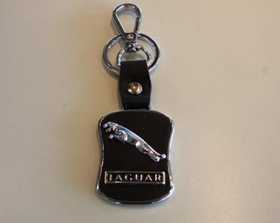 Breloc auto nou metal pentru Jaguar metal cu piele ecologica si ambalaj cadou foto