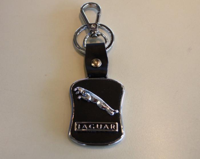 Breloc auto nou metal pentru Jaguar metal cu piele ecologica si ambalaj cadou