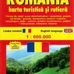 Harta turistica si rutiera Romania 1:6000000 - Ghid de calatorie