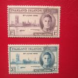 TIMBRE ANGLIA/COLONII FALKLAND ISLANDS, Nestampilat