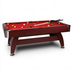 ONECONCEPT Brighton, roșu, 7ft (122 X 82 X 214 CM), masă de biliard, kit de accesorii, finisaj din lemn - Masa biliard