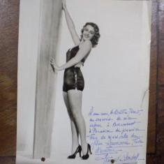 Joan Blondell, fotografie cu dedicatia actritei - Harta Europei