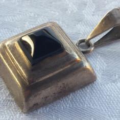 Medalion masiv argint Mexic cu Onix Elegant de Efect executat manual Superb