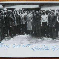 Autograf olograf Dr. Petru Groza pe fotografie , Cluj , 1950