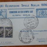 Carte postala ; Suvenir postal nazist ; Olimpiada de la Berlin, 1936 - Fotografie veche