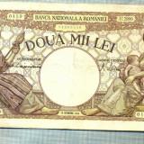 A1050 BANCNOTA-ROMANIA-2000 LEI- 10 OCTOMVRIE 1944-SERIA2999-starea care se vede - Bancnota romaneasca
