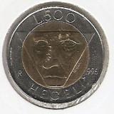 San Marino 500 Lire 1996 - Hegel, Bi-Metalic 25.8 mm K70, KM-357, Europa