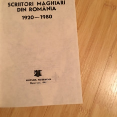 NICOLAE BALOTA--SCRIITORI MAGHIARI DIN ROMANIA