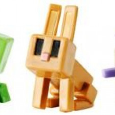 Set 3 Figurine Minecraft Elder Guardian Sneaky Creeper And Rabbit