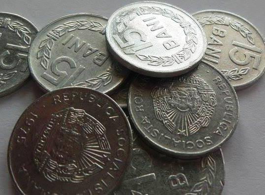 Moneda 15 BANI - ROMANIA, anul 1975 *cod 3461