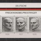 Germania.1975 Laureati PREMIUL NOBEL-Bl. SG.343 - Timbre straine, Nestampilat