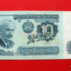 BULGARIA - 10 Leva 1974 - bancnota europa