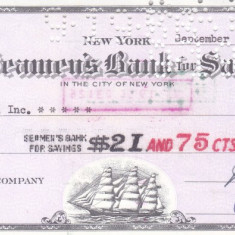 Cec The Seamen's Bank for Savings, New York - 1956 - Cambie si Cec