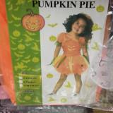 Costum rochita Halloween Dovleac orange  pentru copii 3-4 ani ,marime unica, XS