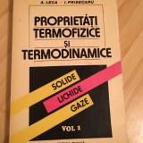 A. LECA--PROPRIETATI TERMOFIZICE SI TERMODINAMICE - VOL. I