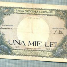 A1036 BANCNOTA-ROMANIA-1000 LEI-10 OCTOMVRIE1944-SERIA 3429-starea care se vede - Bancnota romaneasca