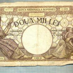A1027 BANCNOTA-ROMANIA-2000 LEI- 20 MATIE 1945 -S.3191-RARA-starea care se vede - Bancnota romaneasca