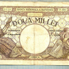 A1047 BANCNOTA-ROMANIA-2000 LEI- 10 OCTOMVRIE 1944-SERIA3002-starea care se vede - Bancnota romaneasca