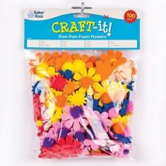 Flori Cu Pom-Pom - Baker Ross - Jocuri arta si creatie