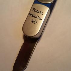 Bricheta metal cu briceag personalizata cu poza si textul tau.Graveaza iubirea - Bricheta Zippo Alta, Tip: De buzunar