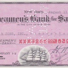 Cec The Seamen's Bank for Savings, New York - 1937 - Cambie si Cec