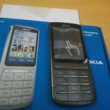 Nokia C3-01 argintiu impecabil reconditionat in cutie