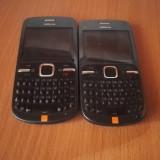 Nokia C3-00 second hand functioneaza perfect - Telefon mobil Nokia C3, Negru, Neblocat