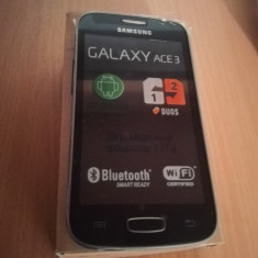 Samsung Galaxy Ace 3 S7272 dual sim  nou in cutie, Negru, Neblocat, Smartphone
