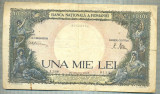 A1039 BANCNOTA-ROMANIA-1000 LEI- 20 MARTIE 1945-SERIA 3698-starea care se vede