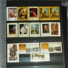Lot Set Colectie 14 buc timbre ARTA PICTURA URSS RUSIA 2+1 gratis RBK20084