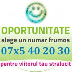 Preferential - 07x5.40.20.30 - Numar AUR Vip gold usor special cartela simplu - Cartela Telekom