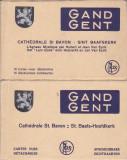 Carti postale Gent, Belgia - Catedrala St. Bavon - 2 carnete 25 vederi anii '30, Necirculata, Printata