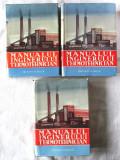 """""""MANUALUL INGINERULUI TERMOTEHNICIAN"""", 3 vol., Colectiv aut., 1961-62. Carti noi"""