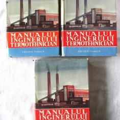 """""""MANUALUL INGINERULUI TERMOTEHNICIAN"""", 3 vol., Colectiv aut., 1961-62. Carti noi - Carti Energetica"""