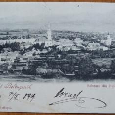 Beius ; Vedere generala, circulata, 1904, clasica - Carte Postala Crisana pana la 1904, Printata